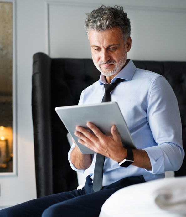business-man-with-tablet